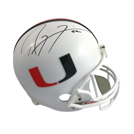 Ray Lewis // Signed University of Miami Hurricanes Full Size Helmet