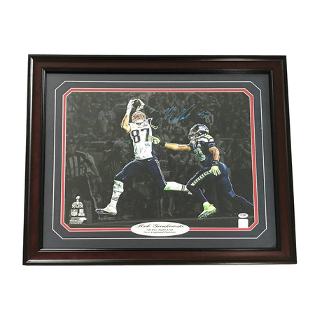 Rob Gronkowski // Signed + Framed Patriots Photo