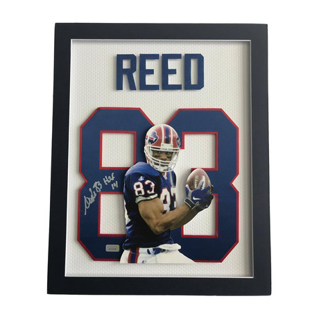 Andre Reed // Signed 3D Jersey Photo Collage // Close