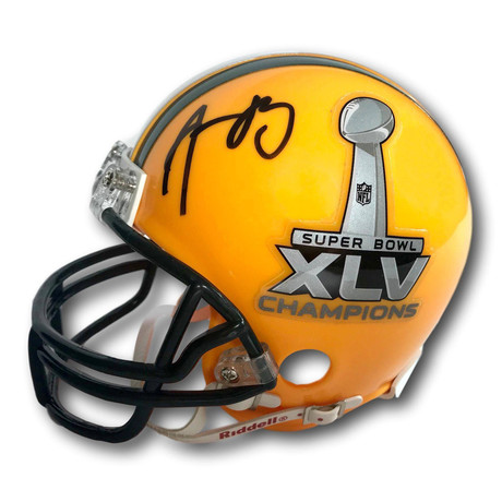 Aaron Rodgers // Signed Green Bay Packers SB XLV Mini Helmet