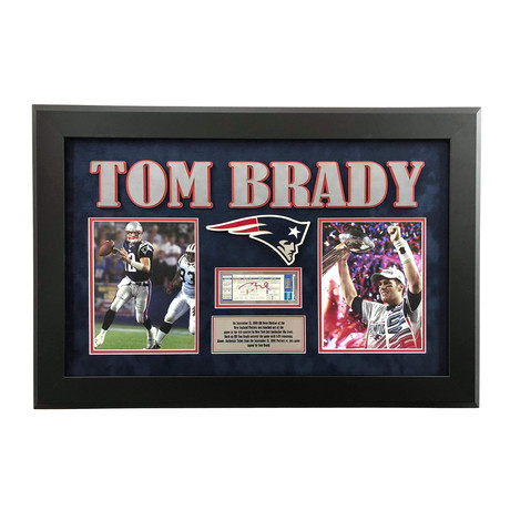 "Tom Brady // Signed + Framed Patriots ""Replace Drew Bledsoe Game"" Ticket"