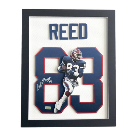 Andre Reed // Signed 3D Jersey Photo Collage // Far