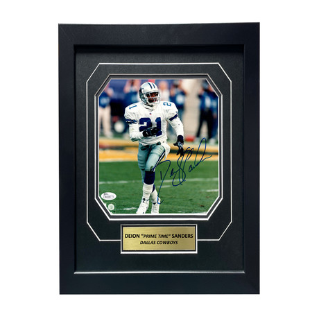 Deion Sanders // Signed + Framed Cowboys Photo