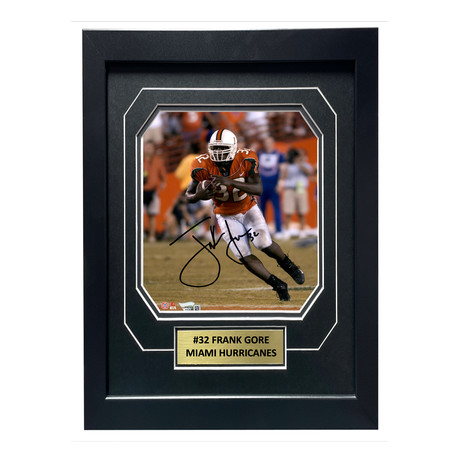Frank Gore // Signed + Framed Miami Hurricanes Photo