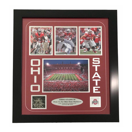 Ohio State Buckeyes // Authentic Game-Used Turf // Framed Collage