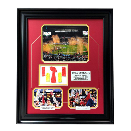 Kansas City Chiefs // Super Bowl 54 LIV Champs Framed Photo Collage // Authentic Confetti