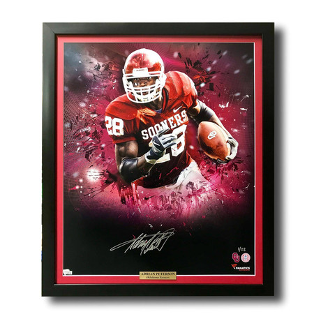 Adrian Peterson // Signed + Framed Oklahoma Sooners Photo
