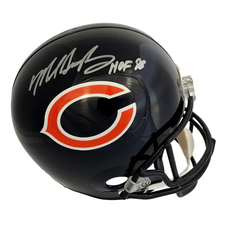 Mike Singletary // Signed Inscribed HOF Chicago Bears Full Size Helmet