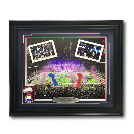 New England Patriots // Super Bowl 51 Champions Framed Collage + Authentic Confetti