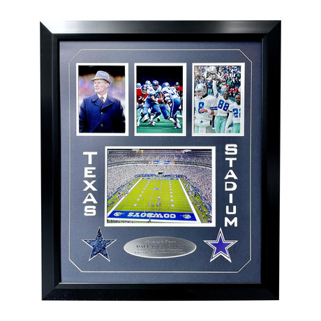 Cowboys // Texas Stadium Authentic Game-Used End Zone Turf // Framed