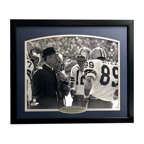 Roger Staubach // Signed + Framed Cowboys Photo