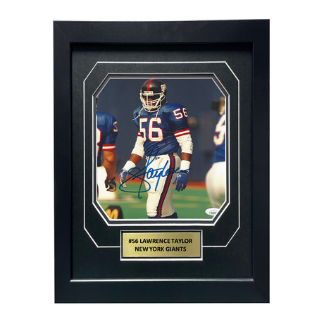 Lawrence Taylor // Signed + Framed NY Giants Photo