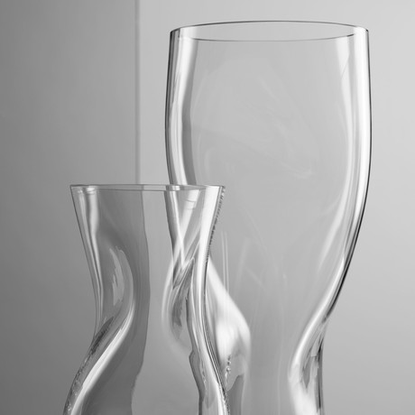 Squeeze Vase // Clear (Small)