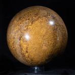 High-Gloss Ocean Jasper Sphere