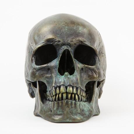 Human Skull // Ancient Bronze