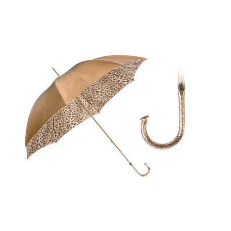Double Cloth Umbrella // Leopard + Ivory
