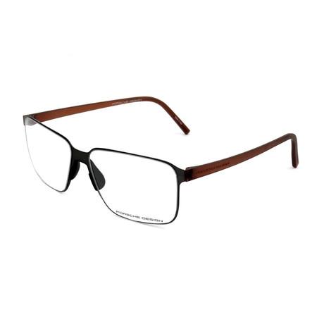 Men's P8313 Optical Frames // Gunmetal + Brown