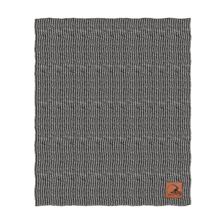 Two Tone Cable Knit Blanket // Cleveland Browns