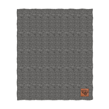 Two Tone Cable Knit Blanket // Jacksonville Jaguars