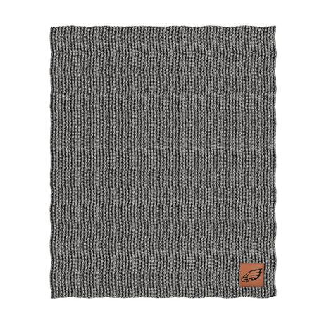 Two Tone Cable Knit Blanket // Philadelphia Eagles