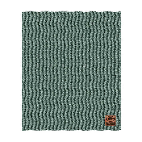 Two Tone Cable Knit Blanket // Green Bay Packers