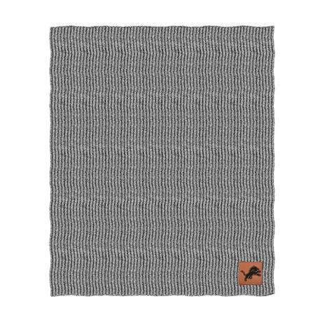 Two Tone Cable Knit Blanket // Detroit Lions