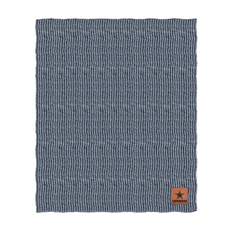 Two Tone Cable Knit Blanket // Dallas Cowboys