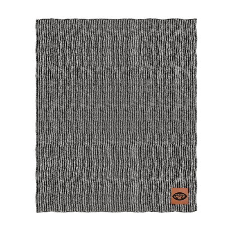 Two Tone Cable Knit Blanket // New York Jets