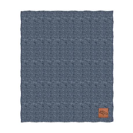 Two Tone Cable Knit Blanket // Denver Broncos