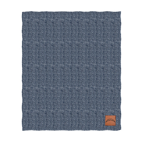 Two Tone Cable Knit Blanket // Los Angeles Chargers