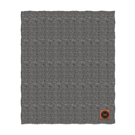Two Tone Cable Knit Blanket // Washington Football Team
