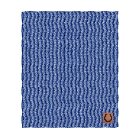 Two Tone Cable Knit Blanket // Indianapolis Colts