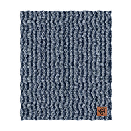 Two Tone Cable Knit Blanket // Chicago Bears