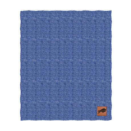 Two Tone Cable Knit Blanket // Buffalo Bills