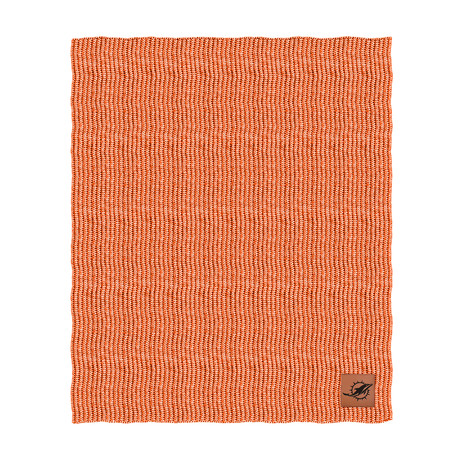 Two Tone Cable Knit Blanket // Miami Dolphins