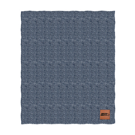 Two Tone Cable Knit Blanket // Seattle Seahawks