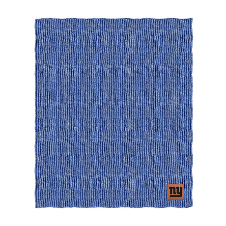 Two Tone Cable Knit Blanket // New York Giants