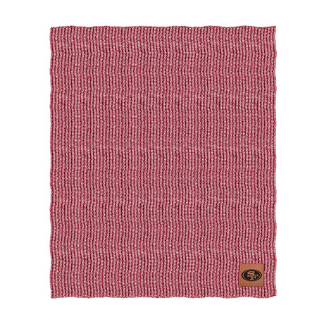 Two Tone Cable Knit Blanket // San Francisco 49ers