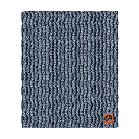 Two Tone Cable Knit Blanket // Los Angeles Rams