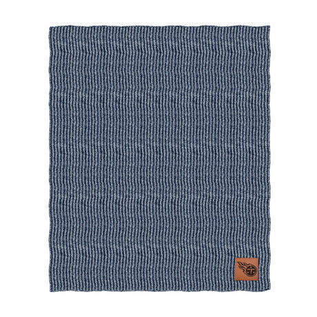 Two Tone Cable Knit Blanket // Tennessee Titans