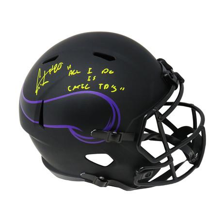 """Cris Carter // Minnesota Vikings // Signed Riddell Speed Full Size Replica Helmet // w/ """"All I Do Is Catch TD's"""""""