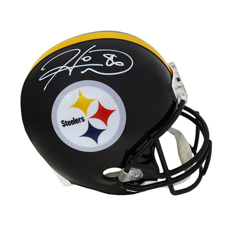 Hines Ward // Pittsburgh Steelers // Signed Riddell Full Size Replica Helmet // Beckett Authentication