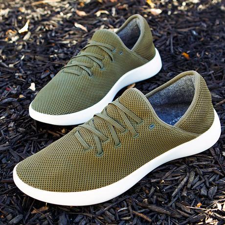 Women's Breezy Laced Shoes // Olive (Women's US Size 5)