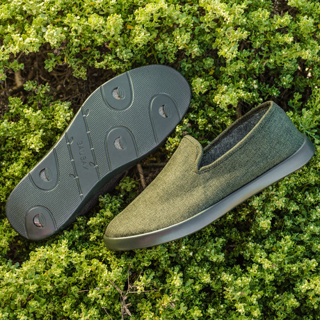 Women's Loungy Loafers // Olive (Women's US Size 5)