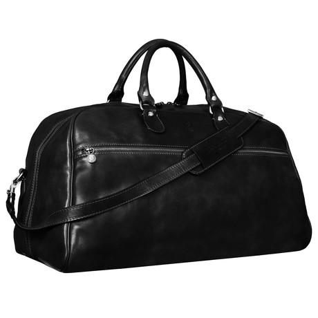 Fear And Loathing In Las Vegas // Leather Duffel Bag (Black)