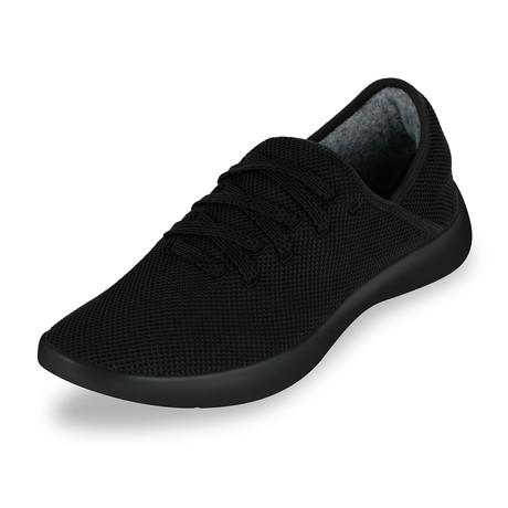Men's Breezy Laced Shoes // Black (Men's US Size 7)