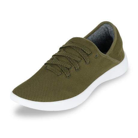 Men's Breezy Laced Shoes // Olive (Men's US Size 7)