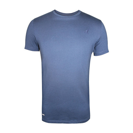 Tonal Embroidered Logo Fashion Tee // Bay Blue (S)