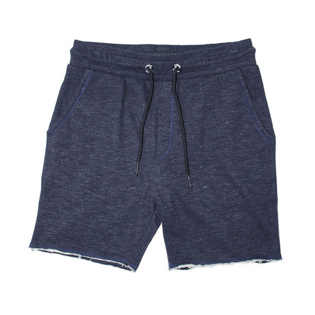 Raw Edge French Terry Short // Navy Beats Mix (S)