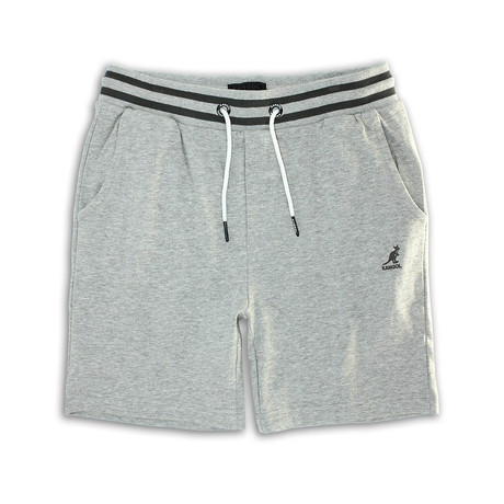 Two-Tone Waistband Fleece Short // Gray Marl (S)